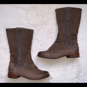 Ugg Australia Annisa Chocolate Leather Boot